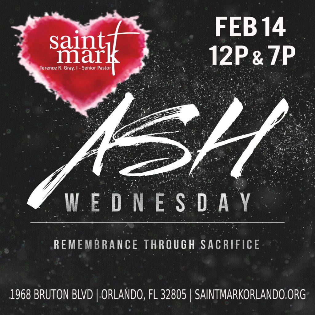 ASH WEDNESDAY @ Saint Mark | Orlando | Florida | United States