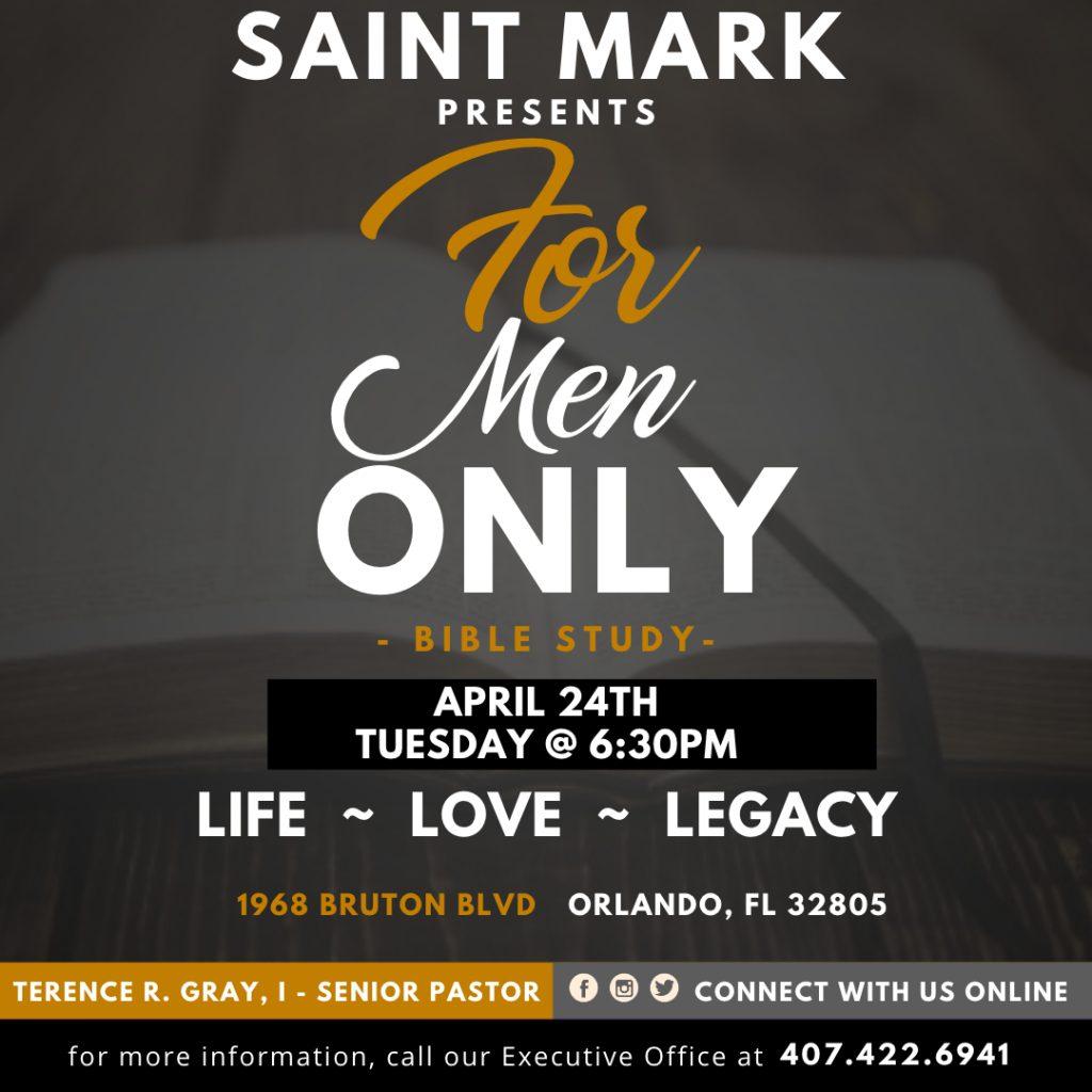 For MEN ONLY @ Saint Mark AME Church | Orlando | Florida | United States