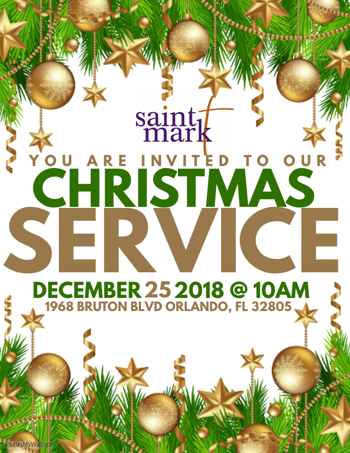 Christmas Day Worship Service @ Saint Mark AME Church | Orlando | Florida | United States