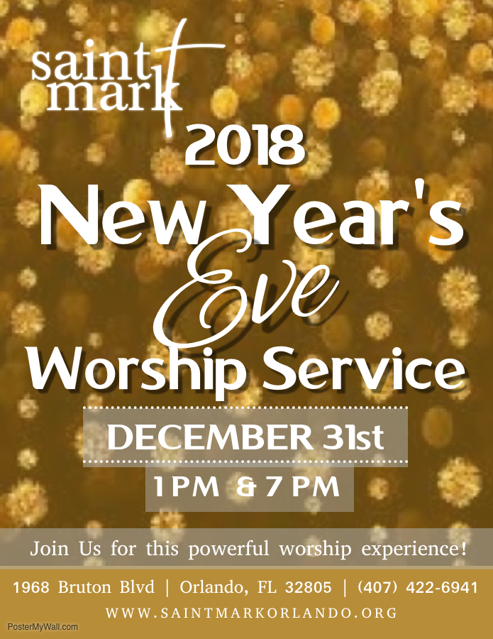 New Year's Eve Worship Service @ Saint Mark AME Church | Orlando | Florida | United States
