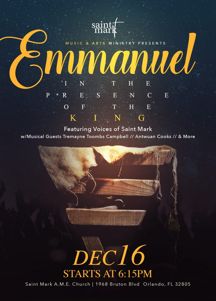 Emmanuel - Christmas Concert @ Saint Mark AME Church | Orlando | Florida | United States